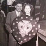 Gladys with Derrick De Marney and the Inter-Refinery Shield
