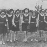 Ethel (far right) with the netball team