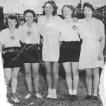 Gladys with the netball team