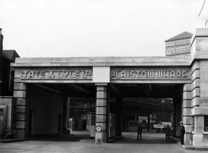 Plaistow Wharf main entrance (1957)