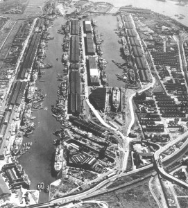 Silvertown from the air (1949)