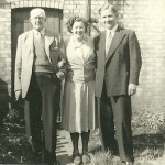 Hugh McMarth Jnr, with Mary and her husband